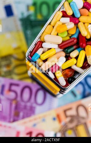 Tablets, Shopping Cart, Euro Notes