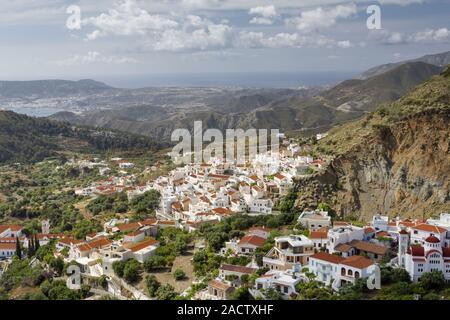 The village Aperi on Karpathos, Greece - Stock Photo