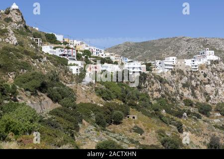 The village Menetes on Karpathos, Greece - Stock Photo
