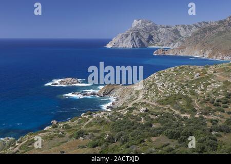 Karpathos Island, West Coast, Greece - Stock Photo