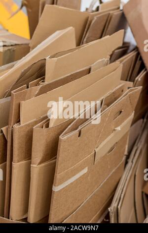 Cardboard boxes for waste paper collection - Stock Photo