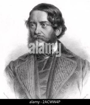 LOUIS KOSSUTH (1802-1894) Hungarian nobleman and statesman - Stock Photo