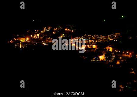 View to Finkenberg, Tyrol, Austria - Stock Photo