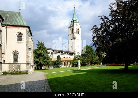 Parish church of Our Lady in Schwaz, Austria, largest gothic hall church in Tyrol - Stock Photo
