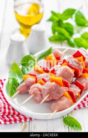 Raw kebab - Stock Photo