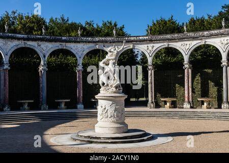 The grove of the Colonnade in the Palace of Versailles gardens - Stock Photo