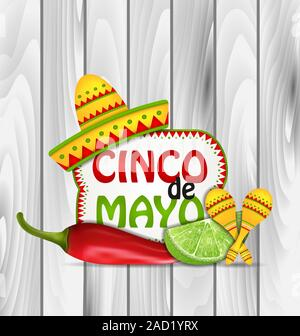 Holiday Greeting Background for Cinco De Mayo - Stock Photo