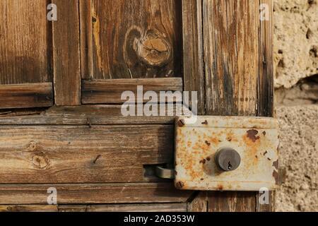 Old lock on a door in Byblos, Lebanon - Stock Photo