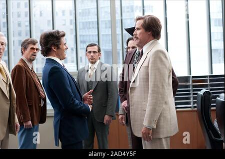 James Marsden, Steve Carell, Paul Rudd & Will Ferrell Film: Anchorman 2: The Legend Continues (USA 2013)  Character(s): Jack Lime, Brick Tamland, Brian Fantana, Ron Burgundy  Director: Adam Mckay 24 November 2013  SAG24086 Allstar Picture Library/PARAMOUNT PICTURES  **Warning** This Photograph is for editorial use only and is the copyright of PARAMOUNT PICTURES  and/or the Photographer assigned by the Film or Production Company & can only be reproduced by publications in conjunction with the promotion of the above Film. A Mandatory Credit To PARAMOUNT PICTURES is required. The Photographer sho - Stock Photo