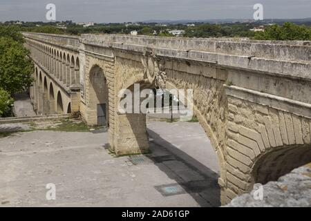 Aqueduct of Saint-Clément in Montpellier, Südfrankreich - Stock Photo