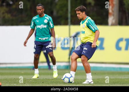 Sao Paulo, Brazil. 03rd Dec, 2019. Jean during Palmeiras training held at the Football Academy located in the Barra Funda neighborhood in São Paulo (SP). Credit: Foto Arena LTDA/Alamy Live News - Stock Photo