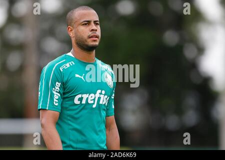 Sao Paulo, Brazil. 03rd Dec, 2019. Mayke during training of Palmeiras held at the Football Academy located in the neighborhood of Barra Funda in Sao Paulo (SP). Credit: Foto Arena LTDA/Alamy Live News - Stock Photo