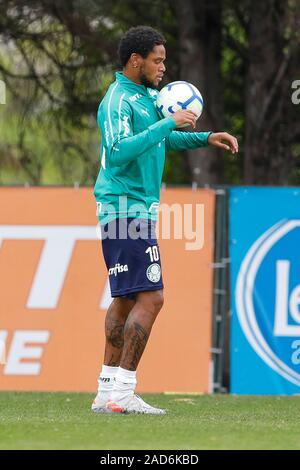Sao Paulo, Brazil. 03rd Dec, 2019. Adriano during Palmeiras training held at the Football Academy located in the Barra Funda neighborhood in São Paulo (SP). Credit: Foto Arena LTDA/Alamy Live News - Stock Photo
