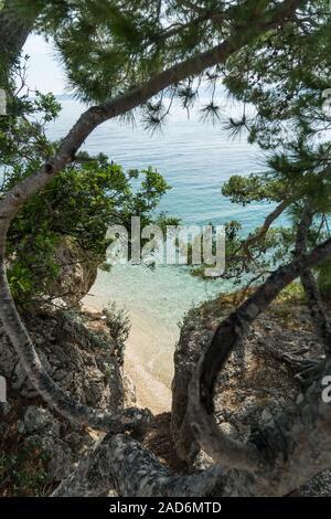 Croatian beach in Brela - Stock Photo