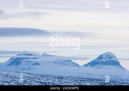 Mountains in Sarek National park, Lapland, Sweden - Stock Photo