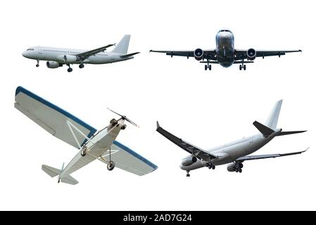 Set of the planes isolated on white background. - Stock Photo