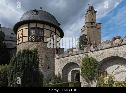 High Middle Ages Rock castle in Kronberg im Taunus, Hesse, Germany
