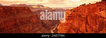 Scenic landscape with view of canyon, Toroweap Point, Grand Canyon, Arizona, USA - Stock Photo