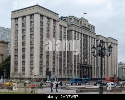 State Duma of Russia, Moscow, Russia October 6, 2018.. - Stock Photo