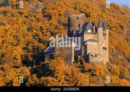 Castle Katz in autumn - Stock Photo