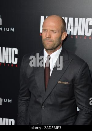 LOS ANGELES, CA. August 22, 2016: Actor Jason Statham at the Los Angeles premiere of 'Mechanic: Resurrection' at the Arclight Theatre, Hollywood. © 2016 Paul Smith / Featureflash - Stock Photo