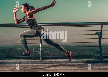 Taking running speed to the next level stock photo - Stock Photo