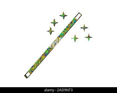 green symbol for magic wand - Stock Photo