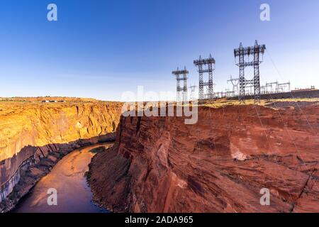 Power plant over dam - Stock Photo