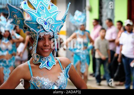 San Juan, Nicaragua, Central America - 24 November 2012: Portrait of the participant in the parade in the city San Juan of Nicaragua - Stock Photo