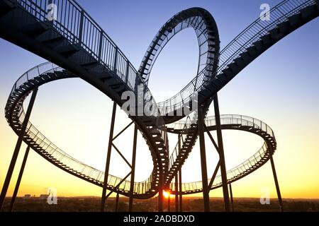 Tiger and Turtle - Magic Mountain, art sculpture and landmark, Angerpark, Duisburg, Germany, Europe Stock Photo