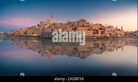 Beautiful panoramic view of Jaffa port and old town in Tel Aviv, Israel