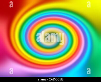 Abstract rainbow colored twirl background - Stock Photo