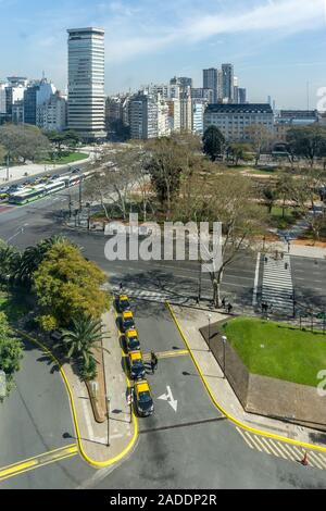 View from the window of the Sheraton Buenos Aires Hotel, San Martin,  Buenos Aires, Argentina, South America, - Stock Photo