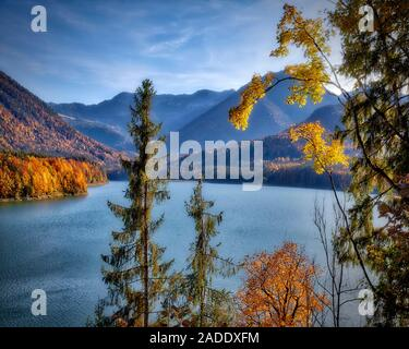 DE - BAVARIA: Sylvenstein Reservioir in the Bavarian Alps - Stock Photo