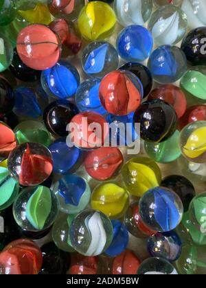 Colorful marbles. - Stock Photo