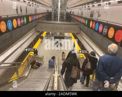 Newest subway station at 72nd Street and 2nd Avneue in Manhattan as of November 2019. - Stock Photo