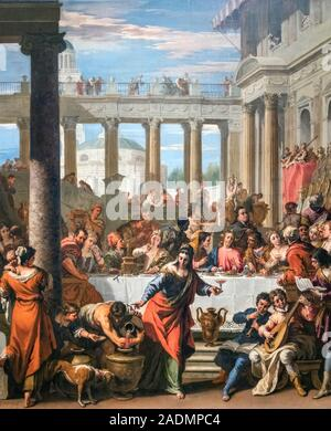 The Marriage Feast at Cana by Sebastiano Ricci (1659-1734), oil on canvas, c.1712-15 - Stock Photo
