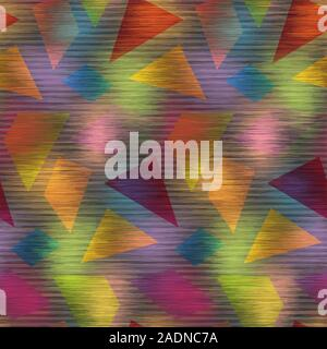 Techno glitch error bug seamless pattern swatch - Stock Photo