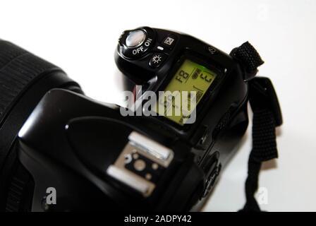 Controls of a SLR 35mm camera