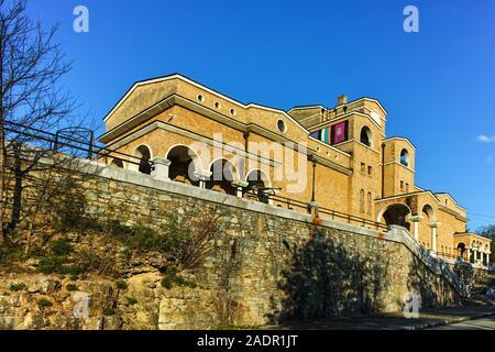 VELIKO TARNOVO, BULGARIA -APRIL 9, 2017: Sunset view of State Art Gallery Boris Denev in city of Veliko Tarnovo, Bulgaria Stock Photo