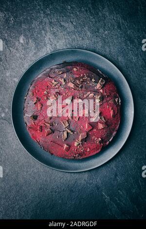 Homemade dark chocolate and beetroot cake