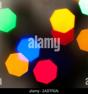 Colourful festive multi-colored circles . Defocused abstract multicolored bokeh lights background - Stock Photo