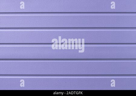 Abstract purple background with lines. Striped surface of metal fence. Metallic cladding of wall, texture. - Stock Photo