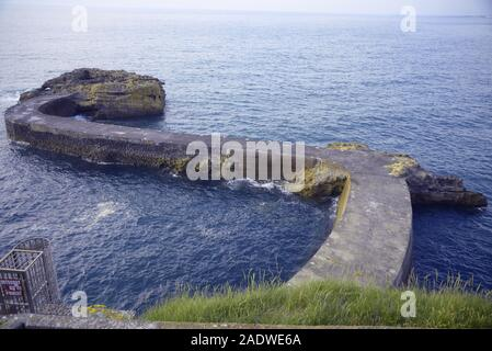 Meandering causeway in south-west France, pasakdek - Stock Photo