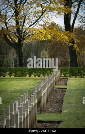 French National War Cemetery at Notre-Dame-de-Lorette - Ablain-Saint-Nazaire - Stock Photo