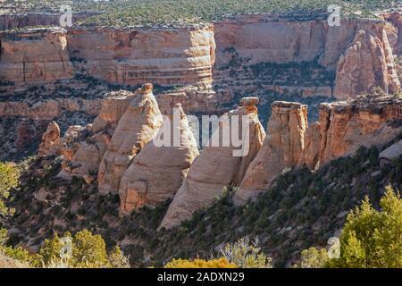 Fruita, Colorado - The Coke Ovens, a series of rock domes Colorado National Monument.