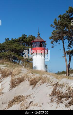 Gellen lighthouse / Leuchtfeuer Gellen on the German island of Hiddensee, Mecklenburg-Vorpommern, Germany - Stock Photo