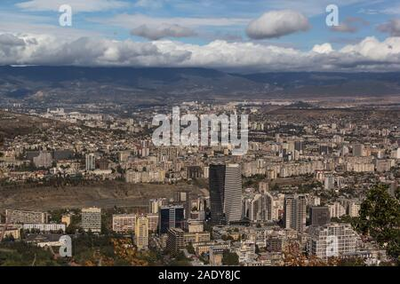 Panoramic view of the city of Tbilisi, October 2019, Georgia, the Caucasus. - Stock Photo
