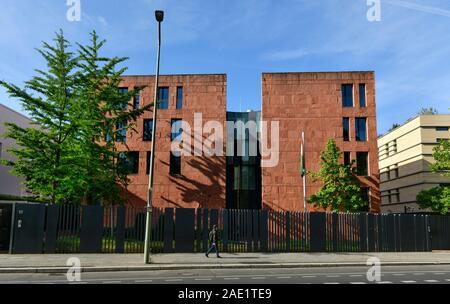 Botschaft von Indien, Tiergartenstraße, Tiergarten, Mitte, Berllin Deutschland - Stock Photo