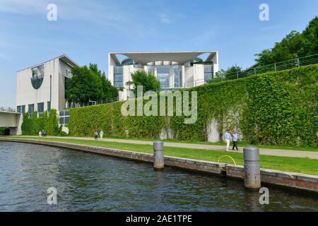Bundeskanzleramt, Spree, Tiergarten, Mitte, Berlin, Deutschland - Stock Photo